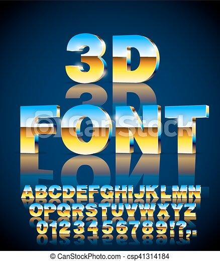 3d vector font - csp41314184