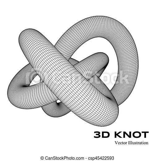 3d vector knot - csp45422593
