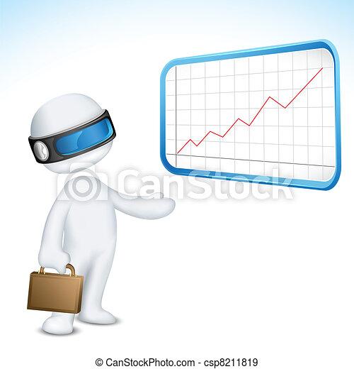 3d Vector Man giving Presentation - csp8211819