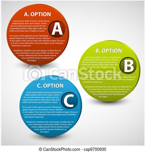3D vector progress buttons - csp9700930