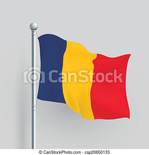 3d vector Romania flag - csp20650133