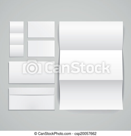 3d vector set of corporate identity templates - csp20057662