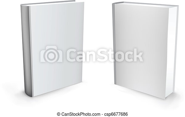 3d Vector White Books
