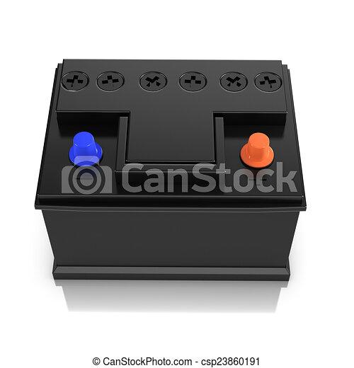 3d Vehicle battery - csp23860191