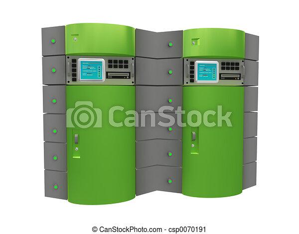3d, verde, servidor - csp0070191