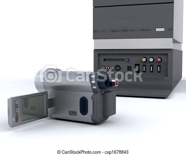 3D video camera equipment - csp1678843