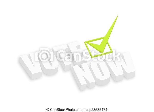 3d Vote Now - csp23535474