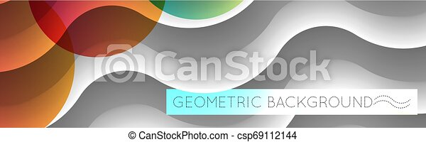 3D waves abstract geometric background. - csp69112144