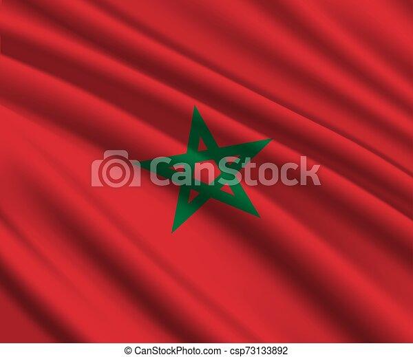 3d waving flag - csp73133892