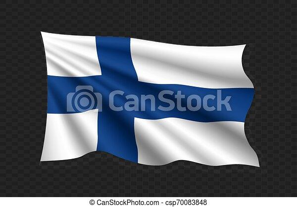 3D Waving Flag - csp70083848