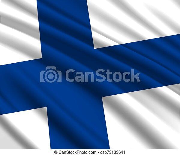 3d waving flag - csp73133641