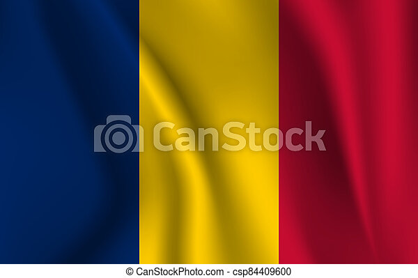 3D Waving Flag of Chad - csp84409600