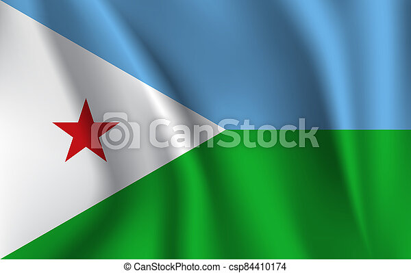 3D Waving Flag of Djibouti - csp84410174