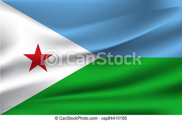 3D Waving Flag of Djibouti - csp84410165