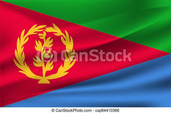 3D Waving Flag of Eritrea - csp84410366