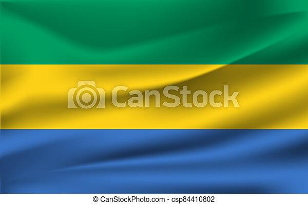 3D Waving Flag of Gabon - csp84410802