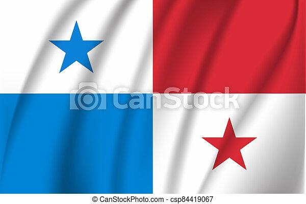 3D Waving Flag of Panama. - csp84419067