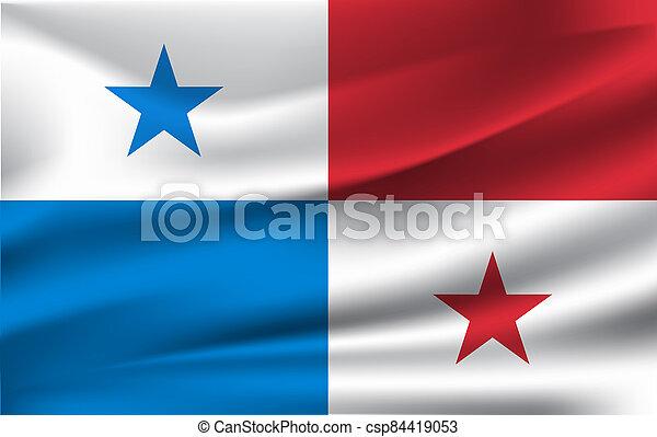 3D Waving Flag of Panama. - csp84419053