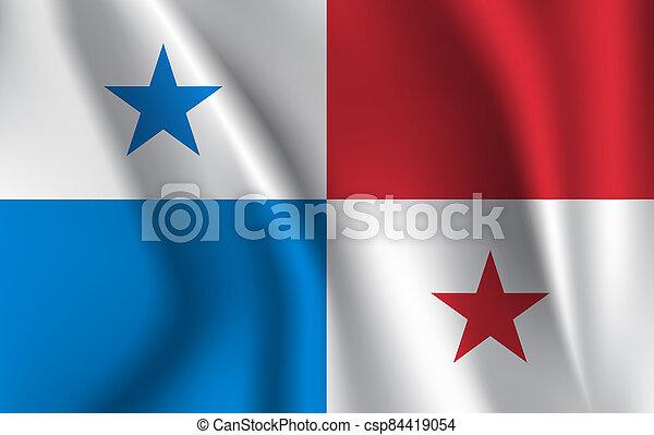 3D Waving Flag of Panama. - csp84419054