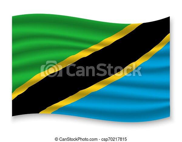 3D Waving Flag . Vector illustration - csp70217815