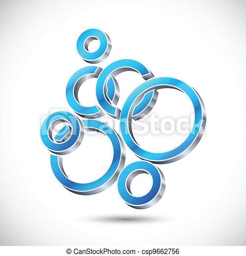 3d Web Design Bubble - csp9662756