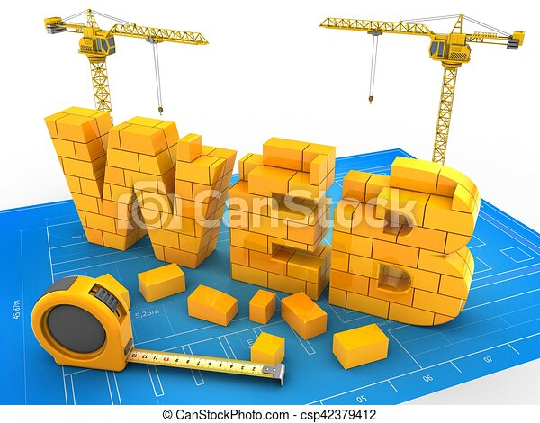 3d web word 3d illustration of web word over blueprint background 3d web word csp42379412 malvernweather Gallery