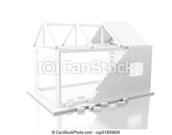 3d White house under construction - csp51809606