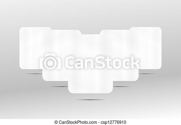 3d white paper blank frame set on background - csp12776910
