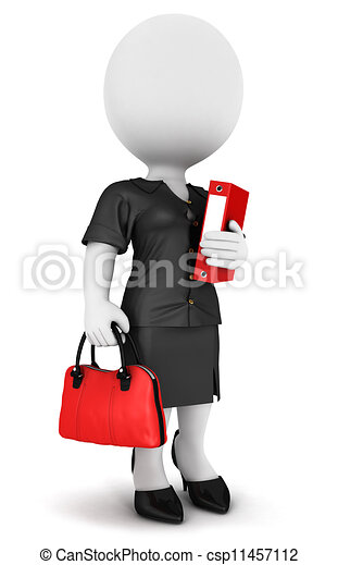 3d white people businesswoman - csp11457112