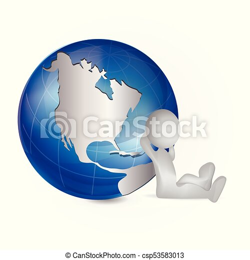 3d white people man and map world globe logo 3d white people man 3d white people man and map world globe logo csp53583013 gumiabroncs Image collections