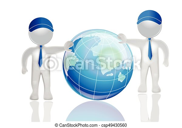 3d white people men with earth globe world map 3d men with clip 3d white people men with earth globe world map csp49430560 gumiabroncs Gallery