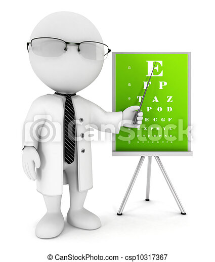 3d white people optician - csp10317367
