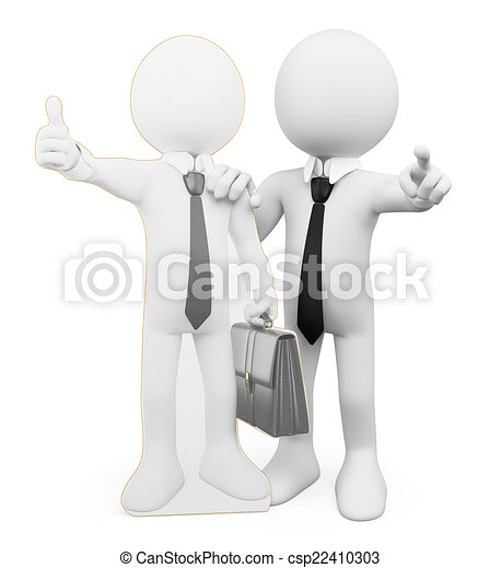 3D white people. Personal business coacher - csp22410303