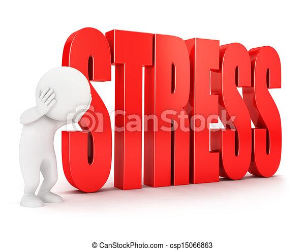 3d white people stress - csp15066863