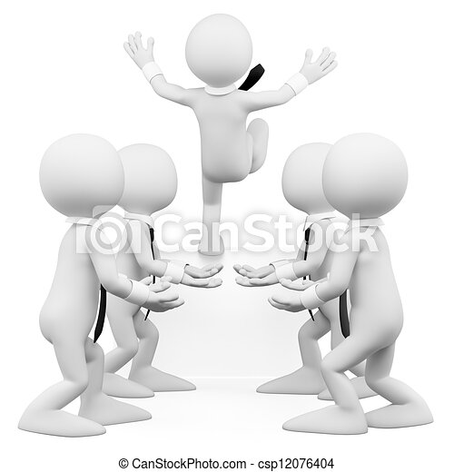 3D white people. Trust the business team - csp12076404