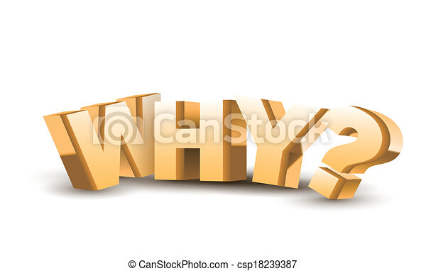 """3d """"why"""" text - csp18239387"""