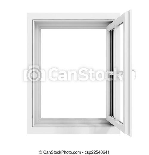 3d window frame on white background - csp22540641