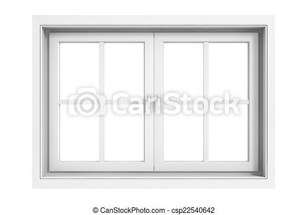 3d window frame on white background - csp22540642