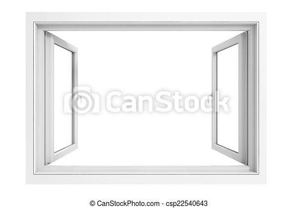3d window frame on white background - csp22540643