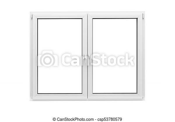 3d window frame on white background.