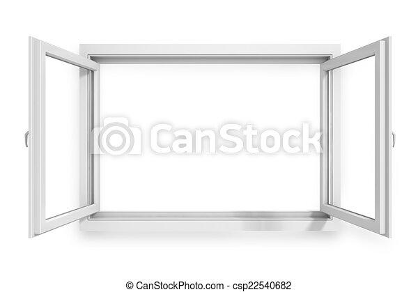 3d window frame on white background - csp22540682