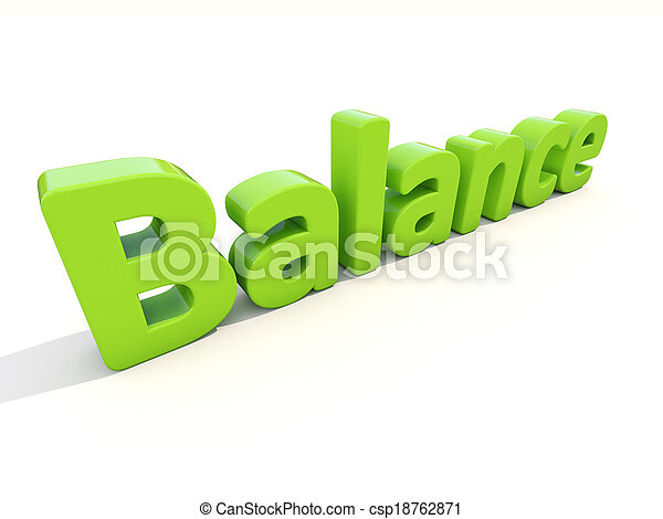 3d word balance - csp18762871