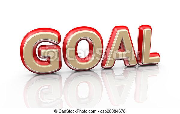 3d word goal - csp28084678