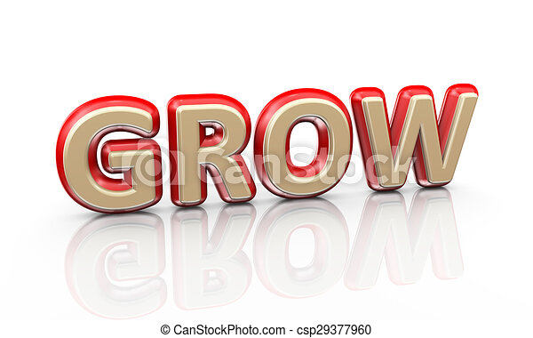 3d word grow - csp29377960