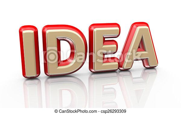 3d word idea - csp26293309