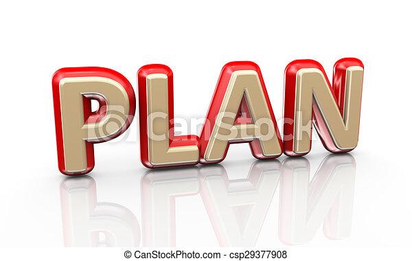 3d word plan - csp29377908
