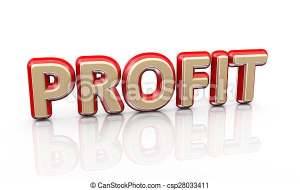 3d word profit - csp28033411