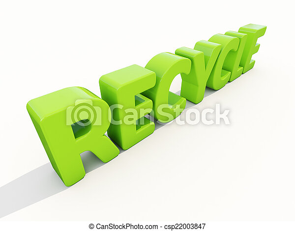 3d word recycle - csp22003847