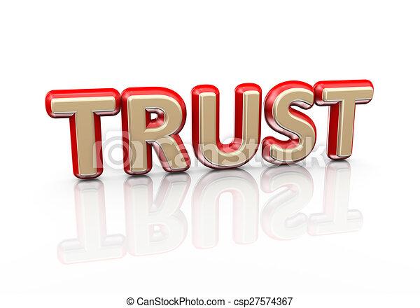 3d word trust - csp27574367