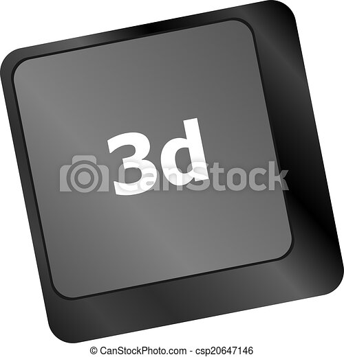 3d Words Symbol On A Button Keyboard Drawing Search Clip Art